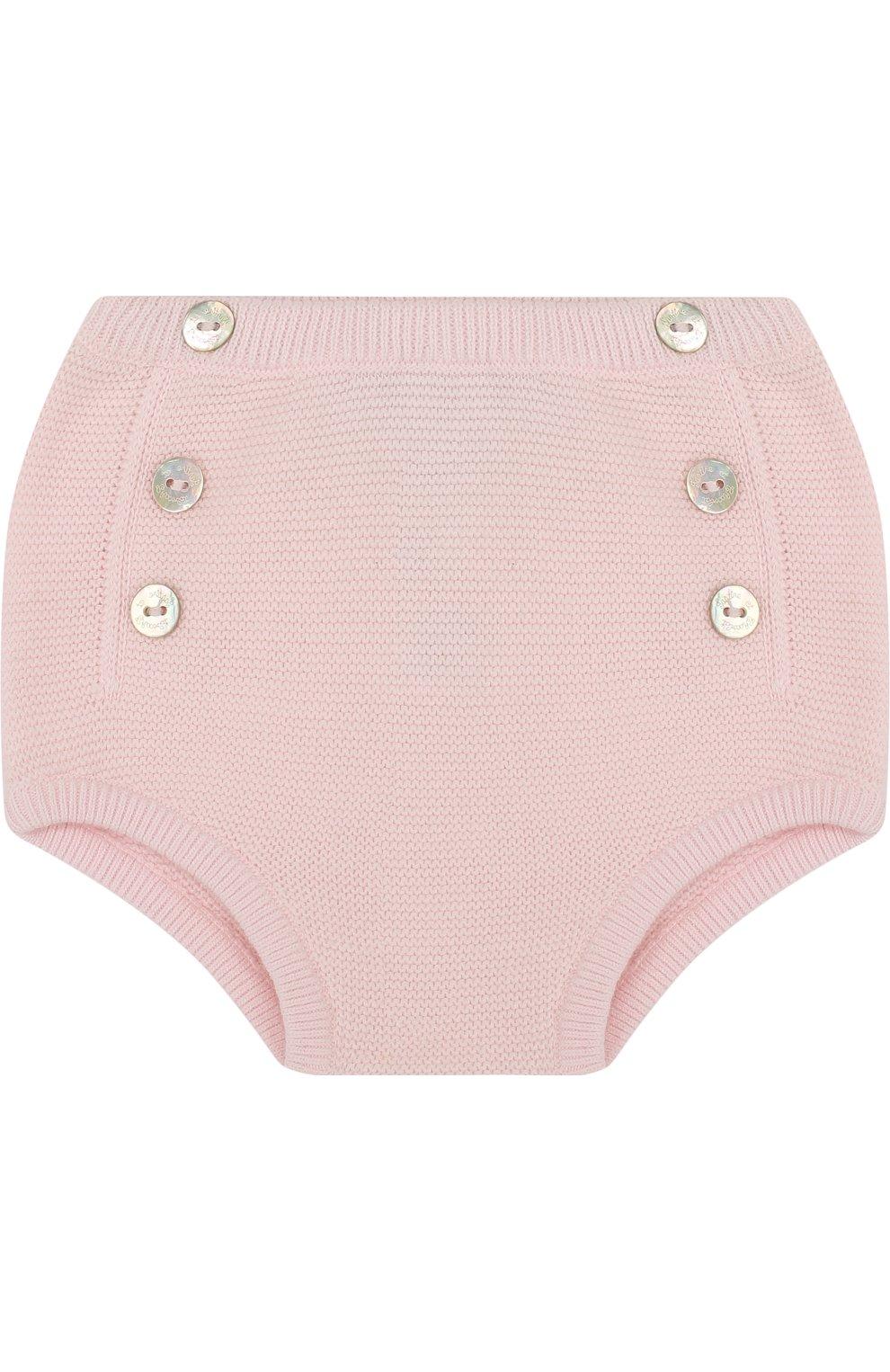 Детские вязаные шорты из хлопка TARTINE ET CHOCOLAT светло-розового цвета, арт. TL26031 | Фото 1