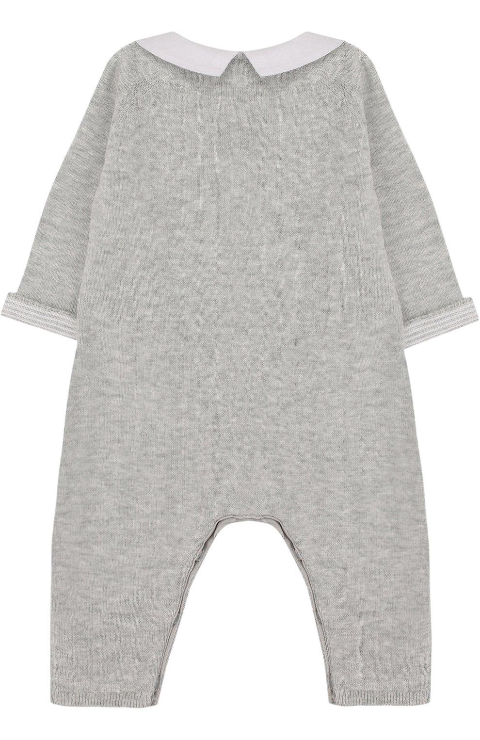 Детский хлопковый комбинезон TARTINE ET CHOCOLAT серого цвета, арт. TL32021 | Фото 2