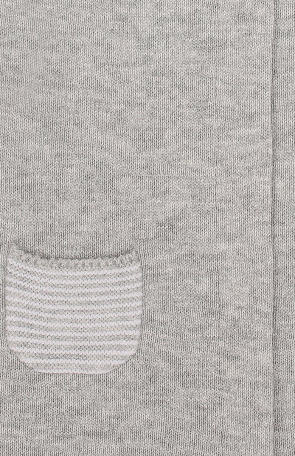 Детский хлопковый комбинезон TARTINE ET CHOCOLAT серого цвета, арт. TL32021 | Фото 3