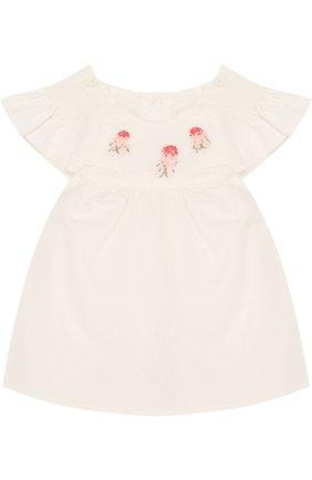Детский хлопковый комплект из блузы и шорт TARTINE ET CHOCOLAT бежевого цвета, арт. TL37031 | Фото 2