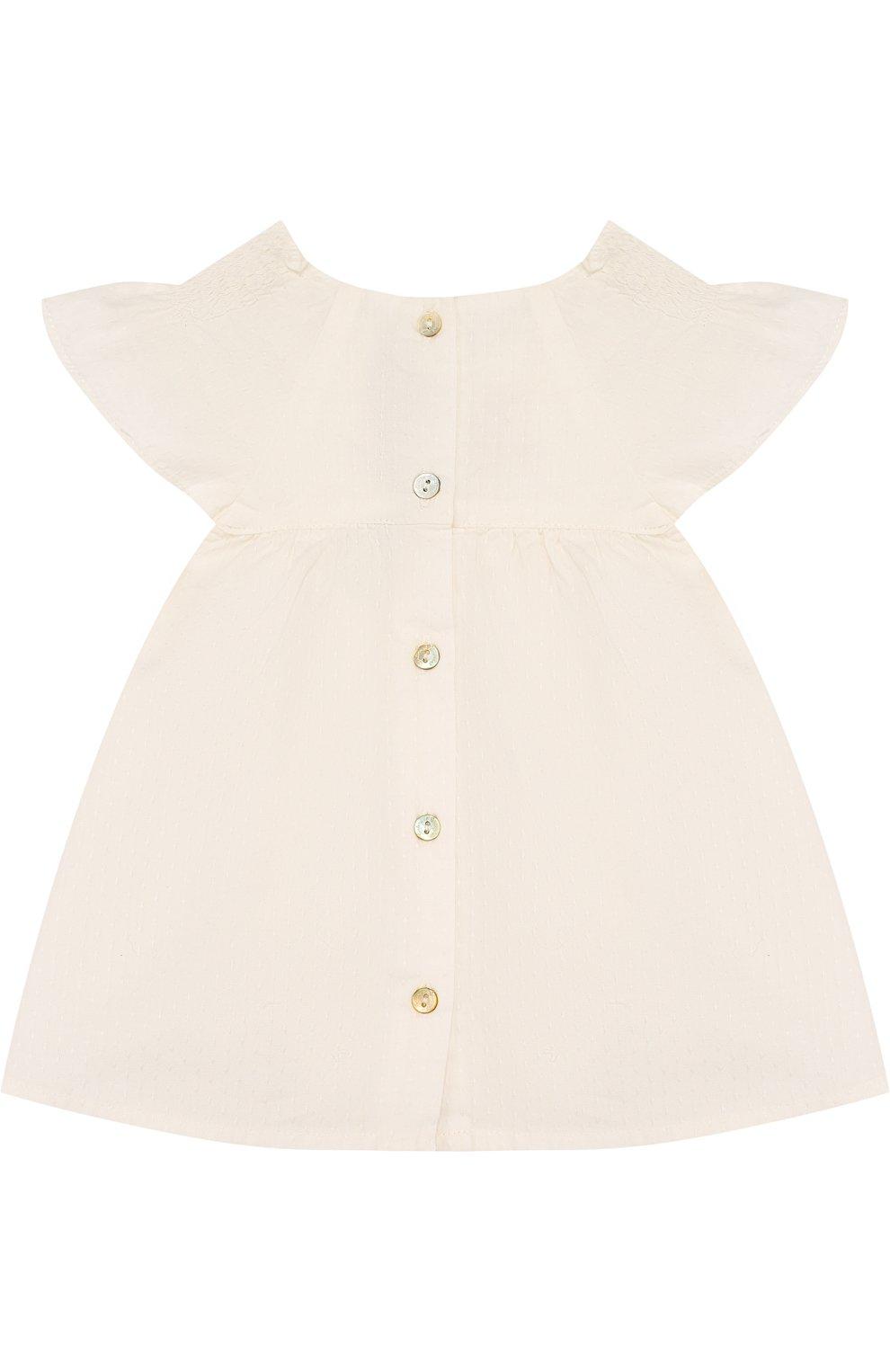 Детский хлопковый комплект из блузы и шорт TARTINE ET CHOCOLAT бежевого цвета, арт. TL37031 | Фото 3