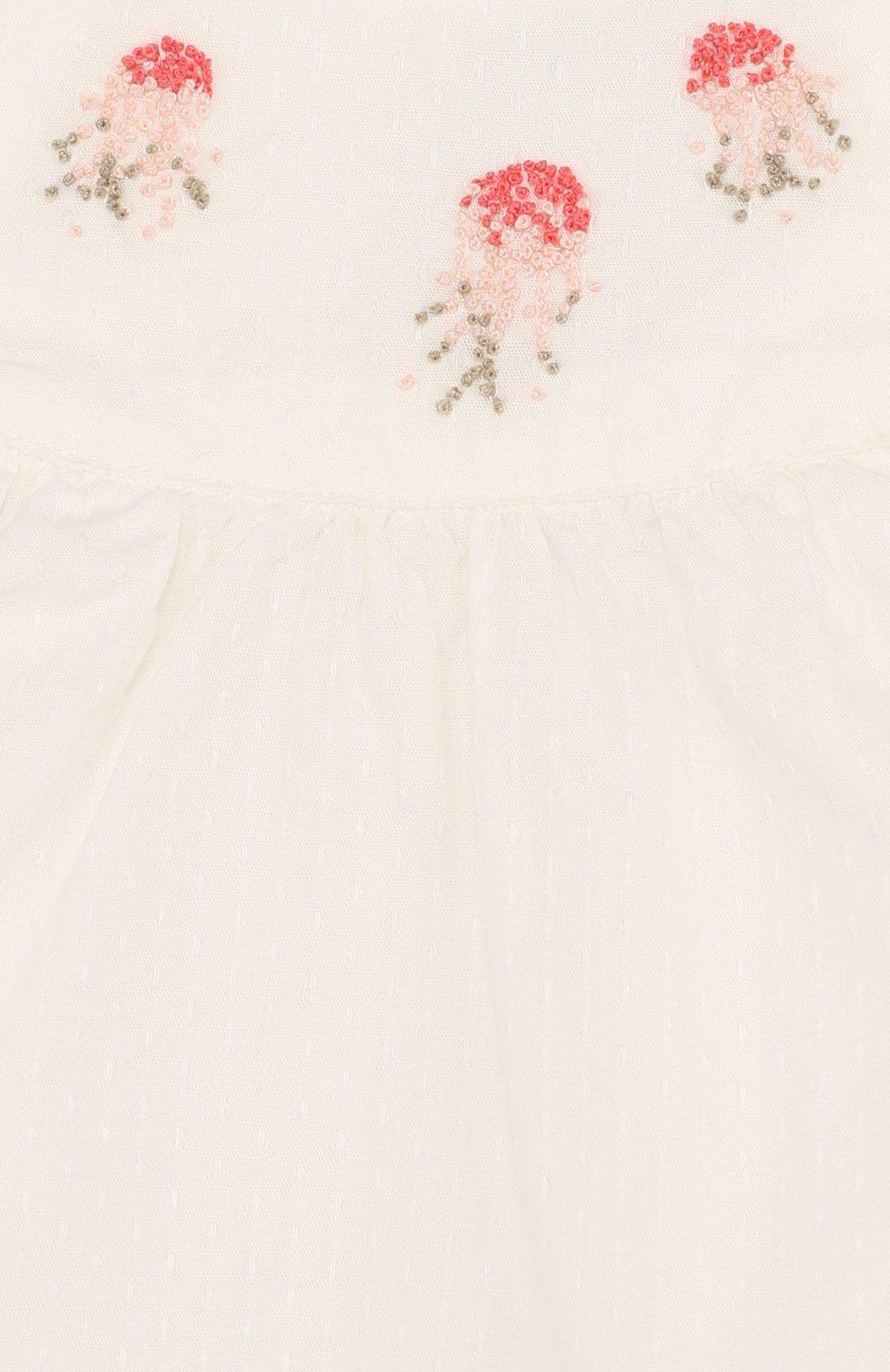 Детский хлопковый комплект из блузы и шорт TARTINE ET CHOCOLAT бежевого цвета, арт. TL37031 | Фото 6