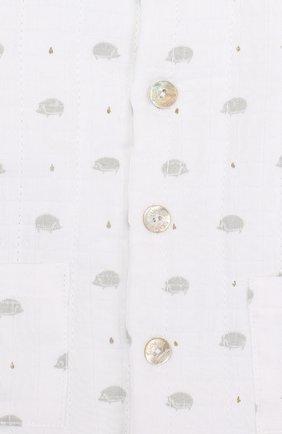 Детский хлопковый кардиган на пуговицах с принтом TARTINE ET CHOCOLAT белого цвета, арт. TL40021   Фото 3