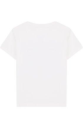 Детский хлопковая футболка с принтом IL GUFO белого цвета, арт. P18TS4C6M0032/3M-9M   Фото 2