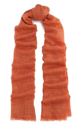 Мужской шарф brina из смеси кашемира и шелка с необработанным краем LORO PIANA оранжевого цвета, арт. FAF8678 | Фото 1