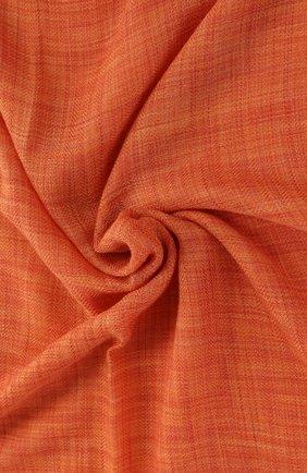Мужской шарф brina из смеси кашемира и шелка с необработанным краем LORO PIANA оранжевого цвета, арт. FAF8678 | Фото 2