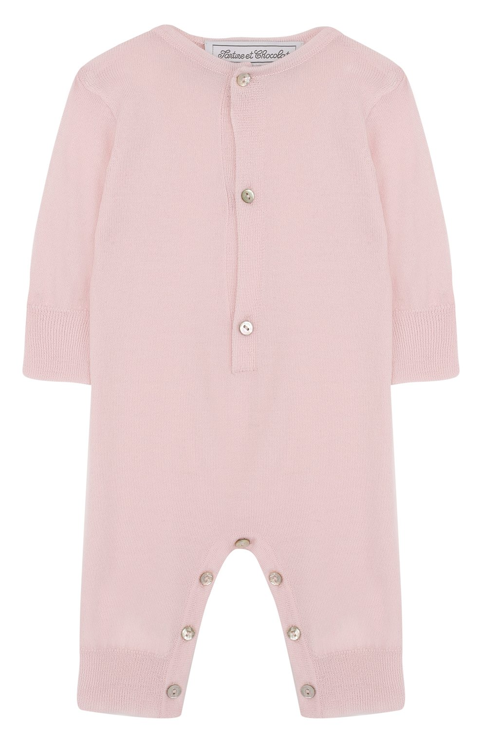 Детский комбинезон из кашемира TARTINE ET CHOCOLAT светло-розового цвета, арт. TH32021 | Фото 1