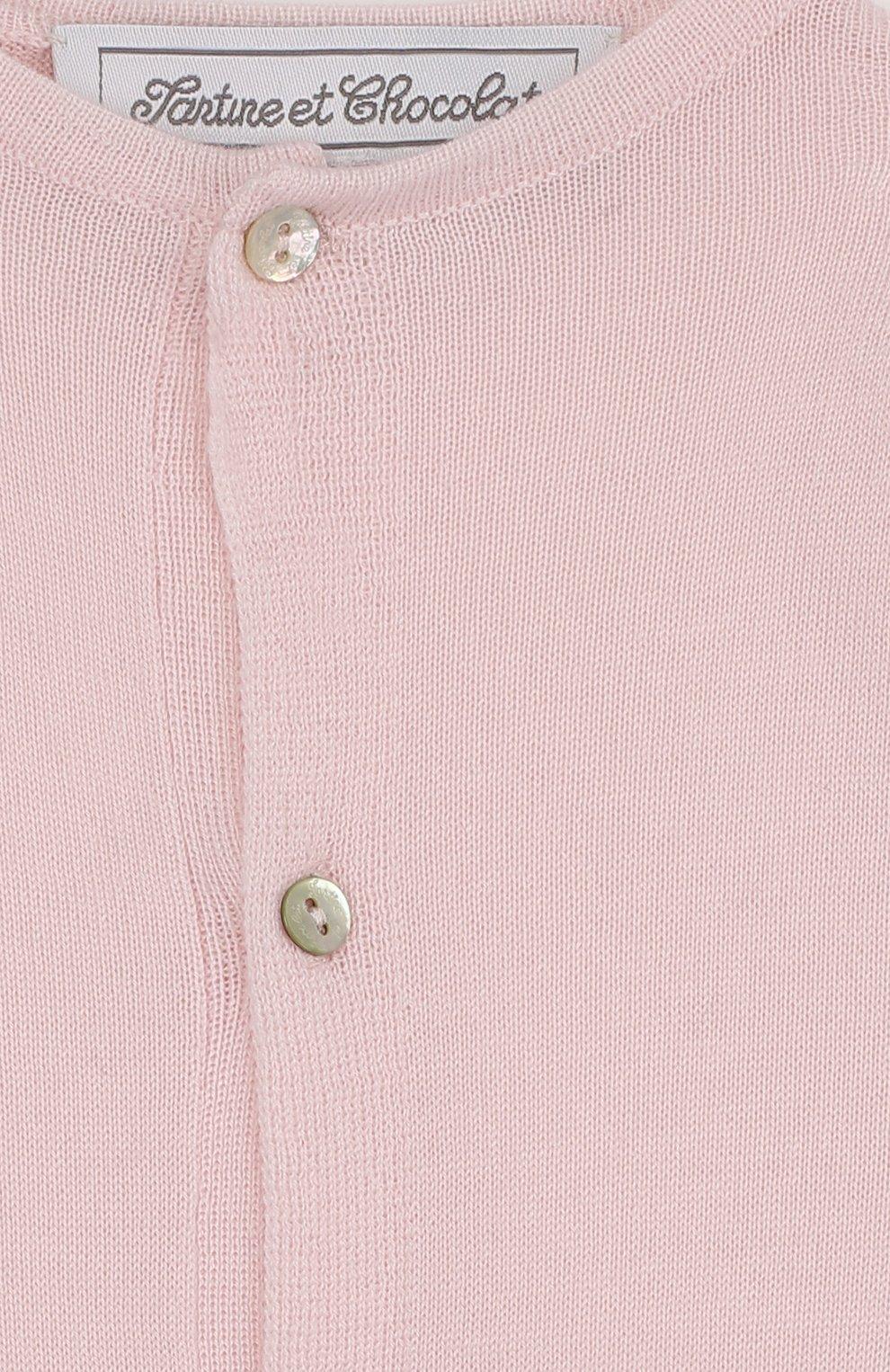 Детский комбинезон из кашемира TARTINE ET CHOCOLAT светло-розового цвета, арт. TH32021 | Фото 3