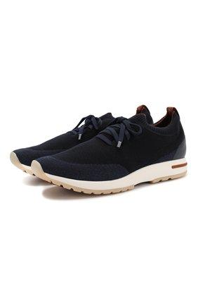Мужские текстильные кроссовки 360 lp walk LORO PIANA темно-синего цвета, арт. FAI1540 | Фото 1