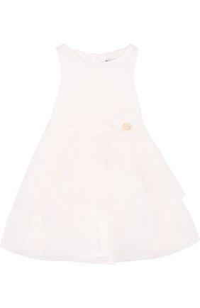 Платье с пышной юбкой и декором на поясе   Фото №1