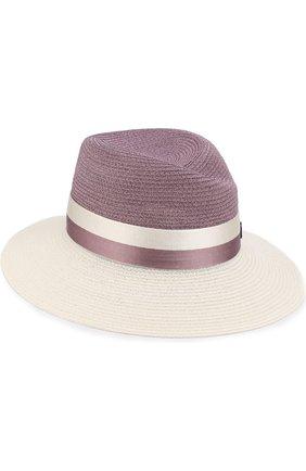 Шляпа Virginie с лентой Maison Michel сиреневого цвета | Фото №1