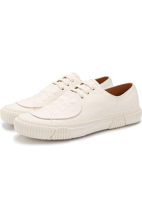 Кожаные кеды на шнуровке Both белые | Фото №1