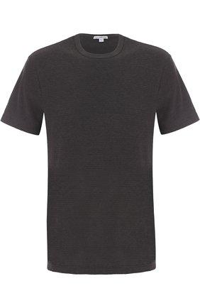 Мужская хлопковая футболка с круглым вырезом JAMES PERSE серого цвета, арт. MRMS3170 | Фото 1