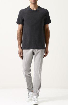 Мужская хлопковая футболка с круглым вырезом JAMES PERSE серого цвета, арт. MRMS3170 | Фото 2