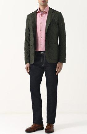 Шелковая стеганая куртка на пуговицах   Фото №2