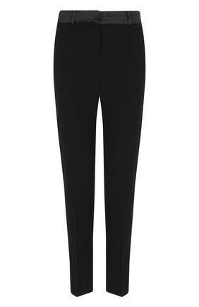 Укороченные однотонные брюки из вискозы | Фото №1