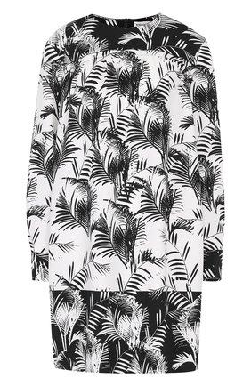 Мини-платье свободного кроя с принтом   Фото №1