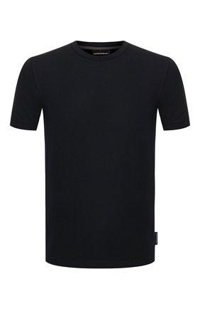 Мужская футболка из вискозы EMPORIO ARMANI темно-синего цвета, арт. 8N1M8A/1JCDZ   Фото 1