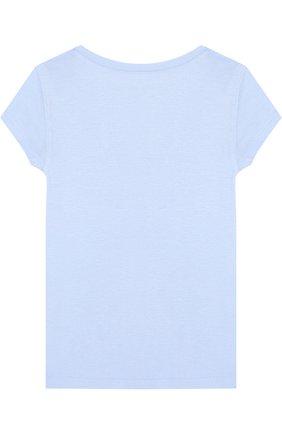 Детская футболка джерси с логотипом бренда POLO RALPH LAUREN голубого цвета, арт. 311688671 | Фото 2