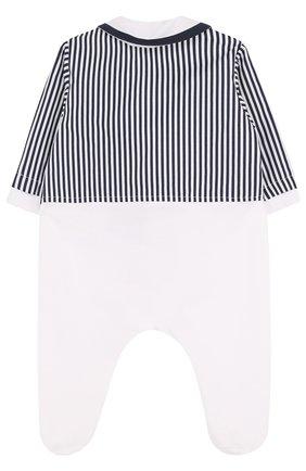 Детский хлопковый комбинезон с декоративной отделкой ALETTA белого цвета, арт. RM88553F/1M-18M   Фото 2