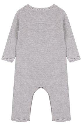 Детский хлопковый комбинезон TARTINE ET CHOCOLAT серого цвета, арт. TL32019 | Фото 2