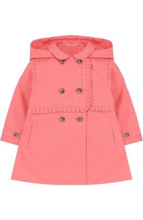 Детского плащ с оборкой и капюшон TARTINE ET CHOCOLAT розового цвета, арт. TL44011/1M-18M | Фото 1
