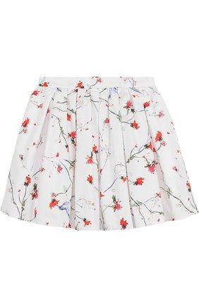 Хлопковая юбка свободного кроя с принтом | Фото №1