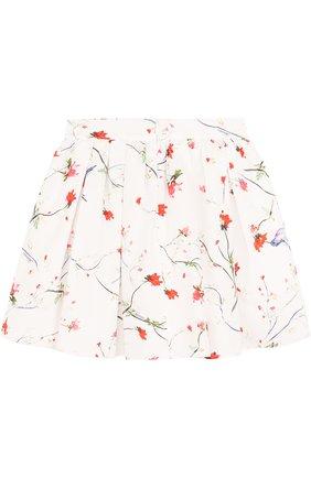 Хлопковая юбка свободного кроя с принтом   Фото №2