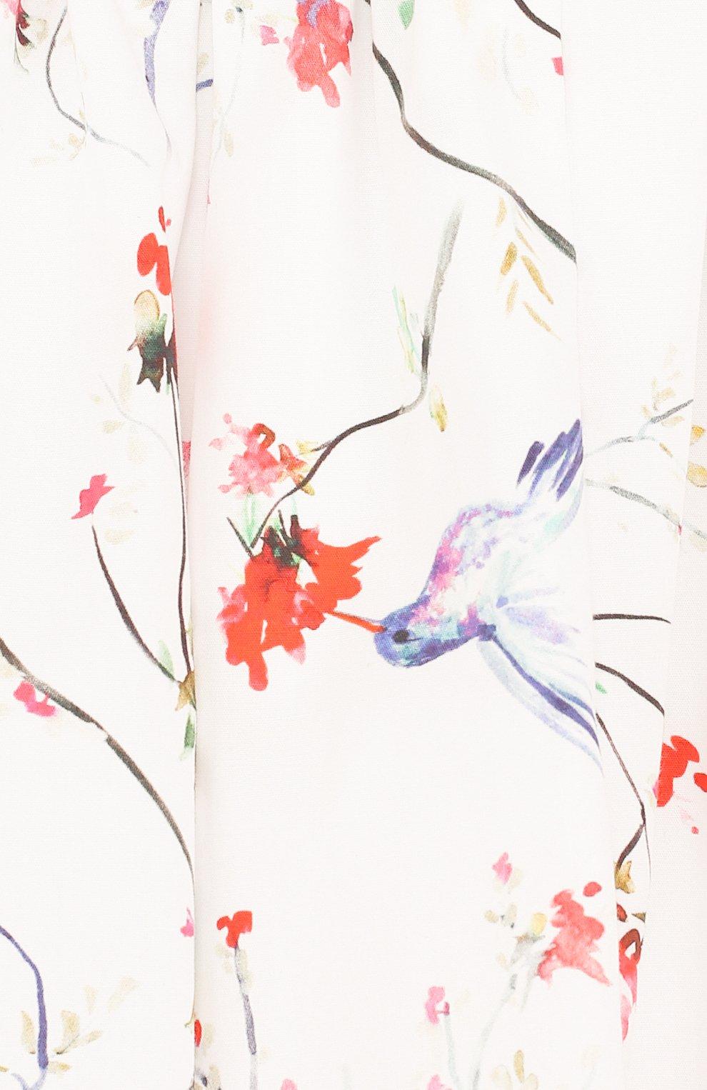 Хлопковая юбка свободного кроя с принтом   Фото №3