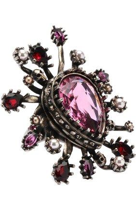 Кольцо с отделкой из кристаллов Swarovski | Фото №1