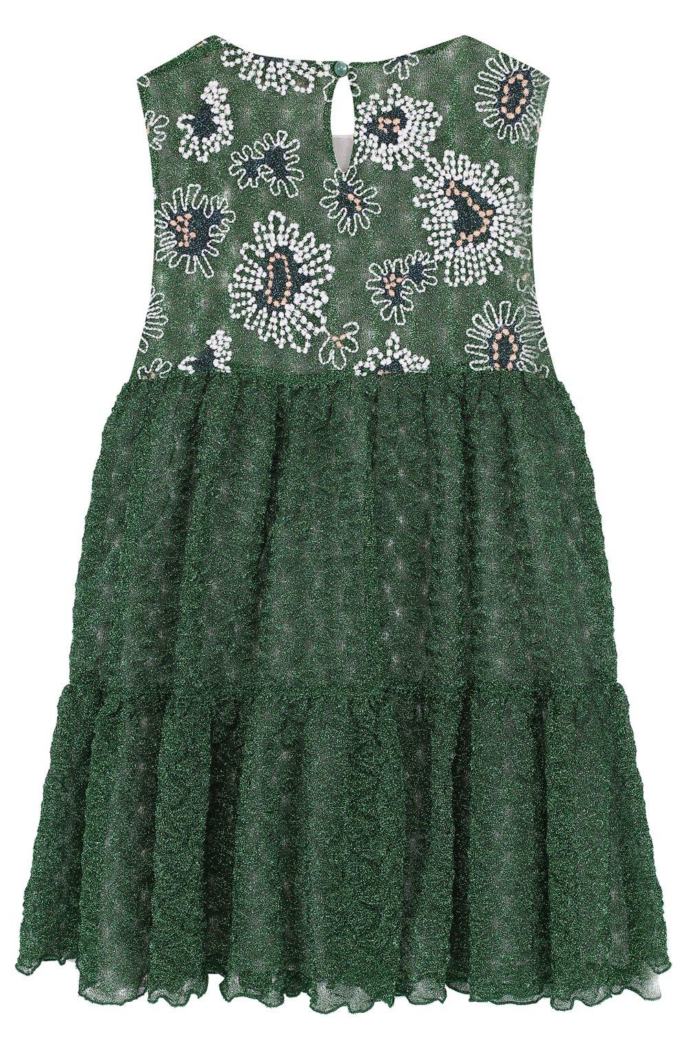 Шелковое мини-платье с металлизированной отделкой и вышивкой | Фото №2