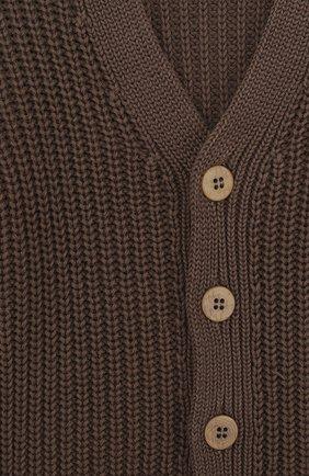 Кардиган из хлопка фактурной вязки на пуговицах | Фото №3
