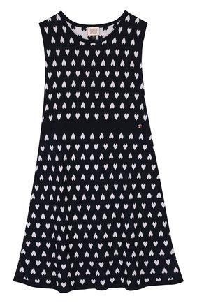 Приталенное мини-платье из хлопка с принтом   Фото №1