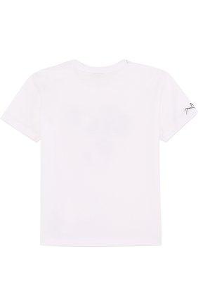 Хлопковая футболка с нашивками | Фото №2