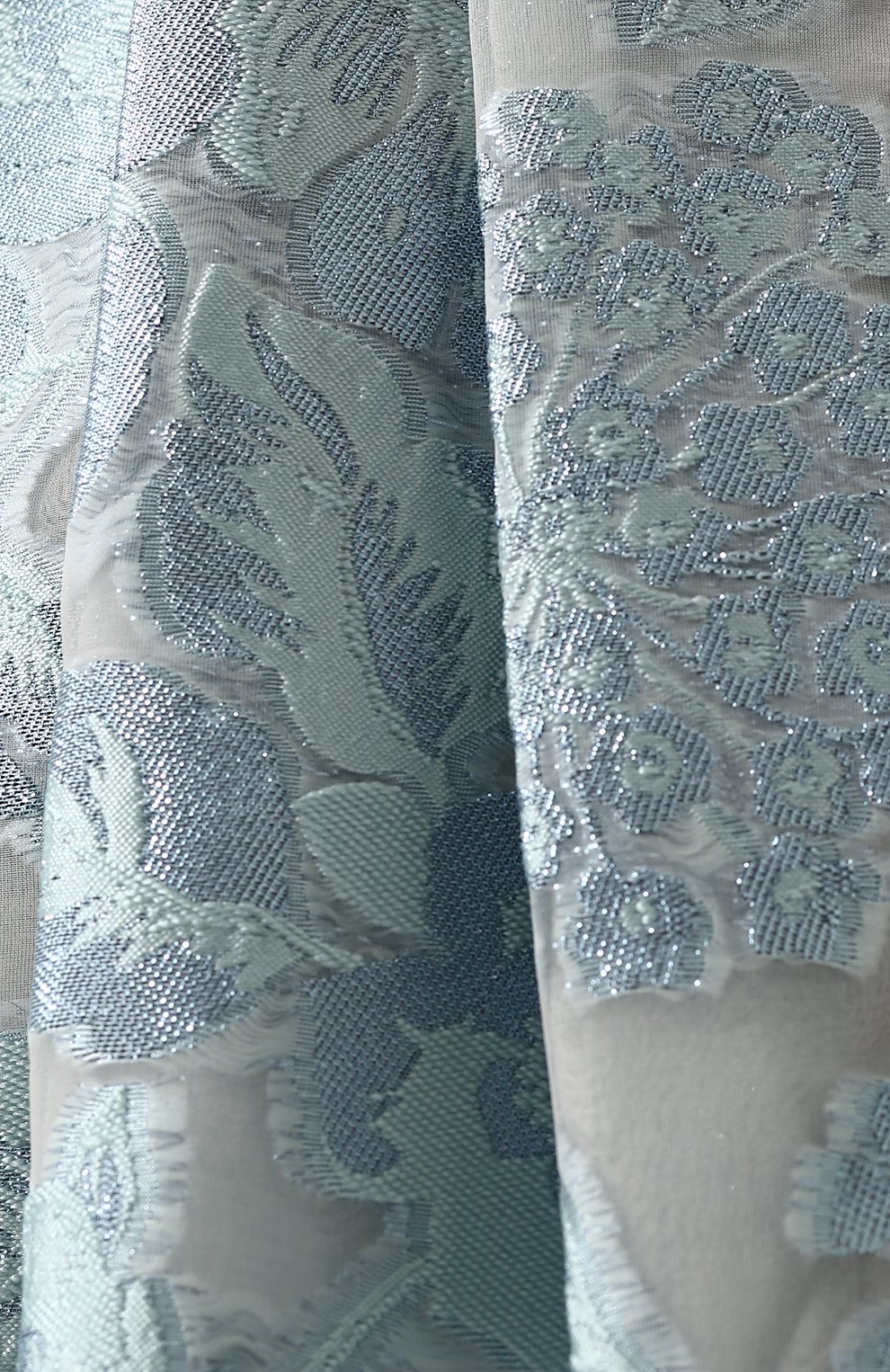 Юбка-макси с защипами и цветочной отделкой St. John светло-зеленая | Фото №5