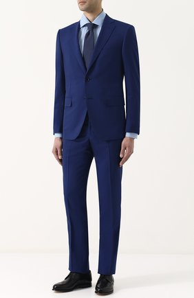 Мужская хлопковая рубашка с воротником кент KITON голубого цвета, арт. UCIH0636809000 | Фото 2
