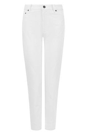 Укороченные однотонные джинсы свободного кроя