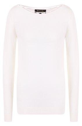 Пуловер из смеси кашемира и шелка с хлопком | Фото №1
