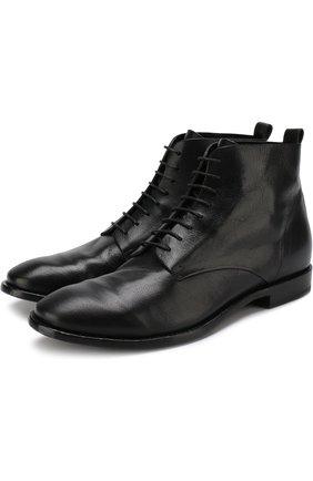 Высокие кожаные ботинки Buttero черные | Фото №1