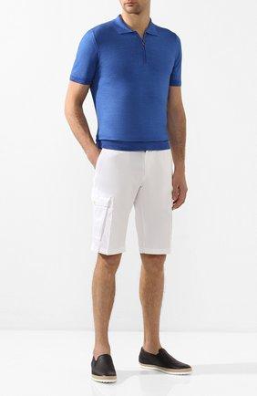 Мужские кожаные слипоны TOD'S синего цвета, арт. XXM0TV0K900NLKU801 | Фото 2