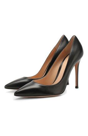Женские кожаные туфли gianvito 105 GIANVITO ROSSI черного цвета, арт. G28470.15RIC.NAPNER0 | Фото 1