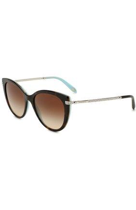 Женские солнцезащитные очки TIFFANY & CO. разноцветного цвета, арт. 4143B-81343B | Фото 1