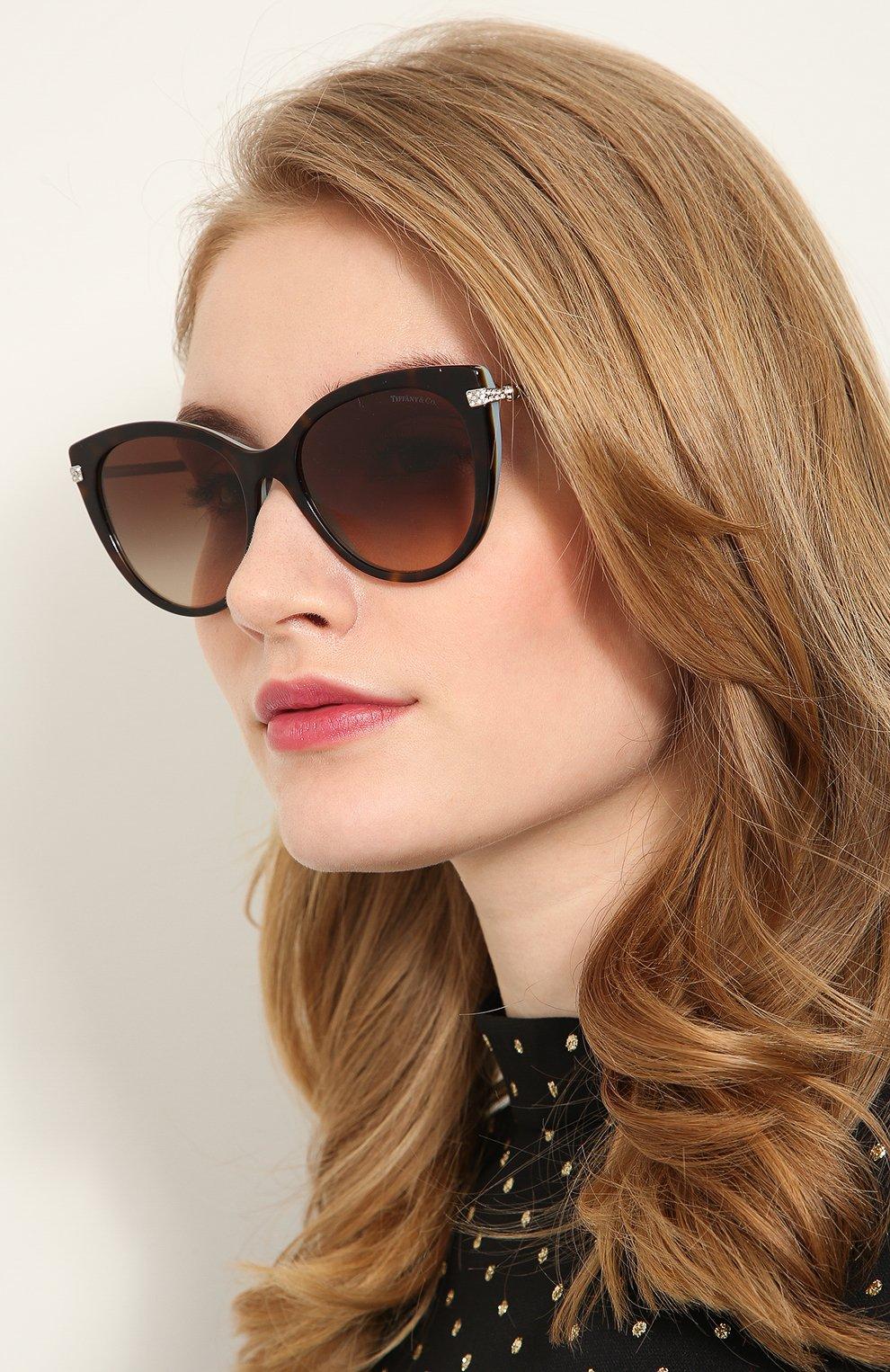 Женские солнцезащитные очки TIFFANY & CO. разноцветного цвета, арт. 4143B-81343B | Фото 2