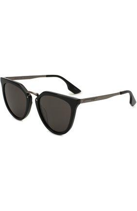 Женские солнцезащитные очки ALEXANDER MCQUEEN черного цвета, арт. MQ0086 001 | Фото 1