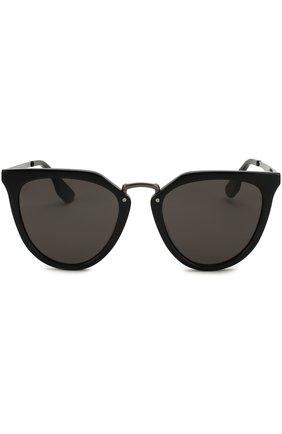 Женские солнцезащитные очки ALEXANDER MCQUEEN черного цвета, арт. MQ0086 001 | Фото 3