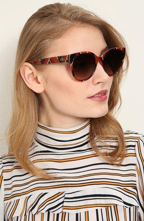 Солнцезащитные очки Gucci разноцветные | Фото №2
