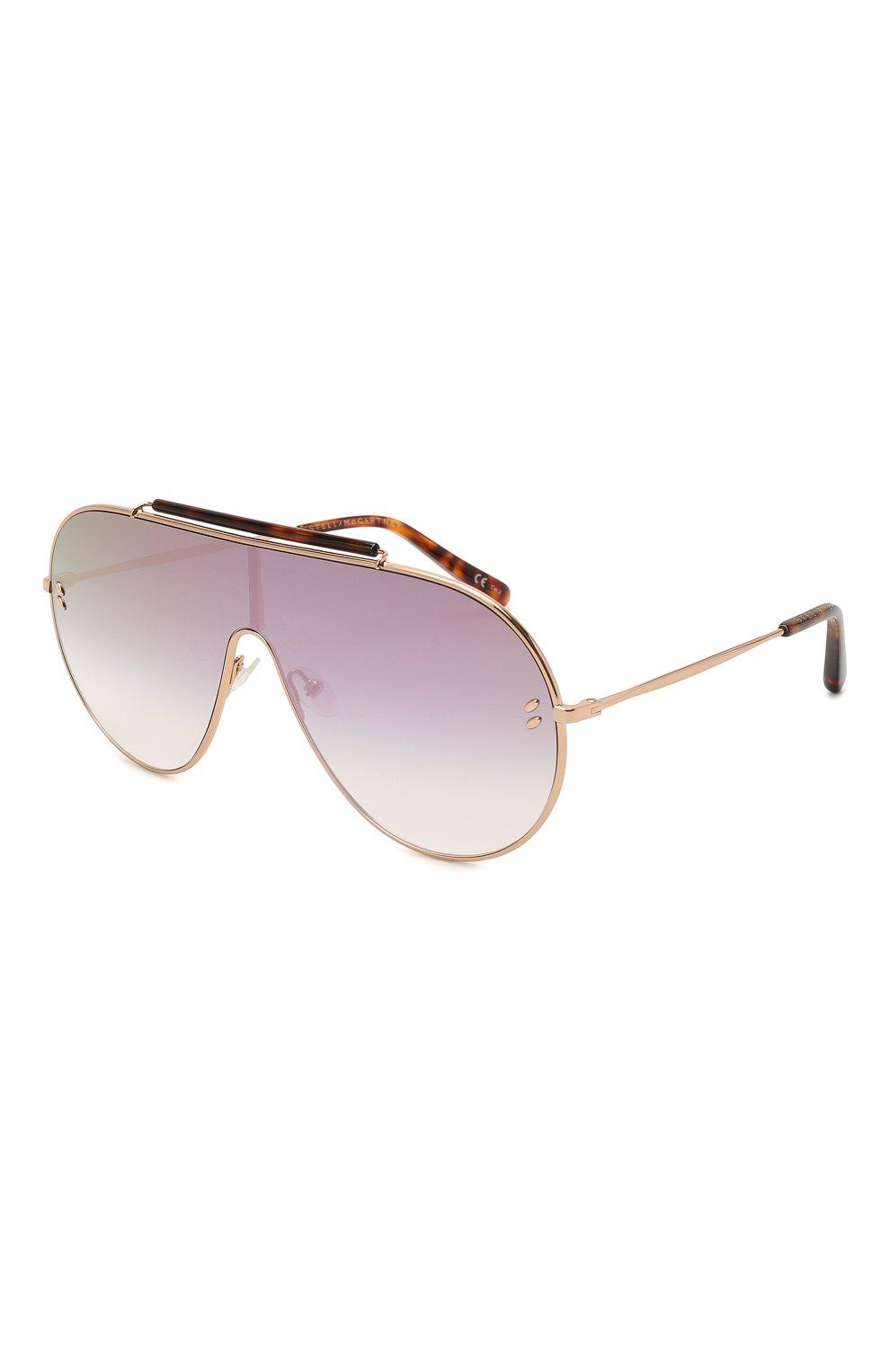 Женские солнцезащитные очки STELLA MCCARTNEY золотого цвета, арт. SC0056 004 | Фото 1