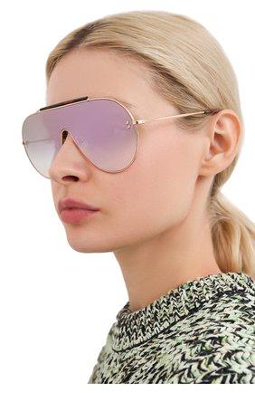 Женские солнцезащитные очки STELLA MCCARTNEY золотого цвета, арт. SC0056 004 | Фото 2