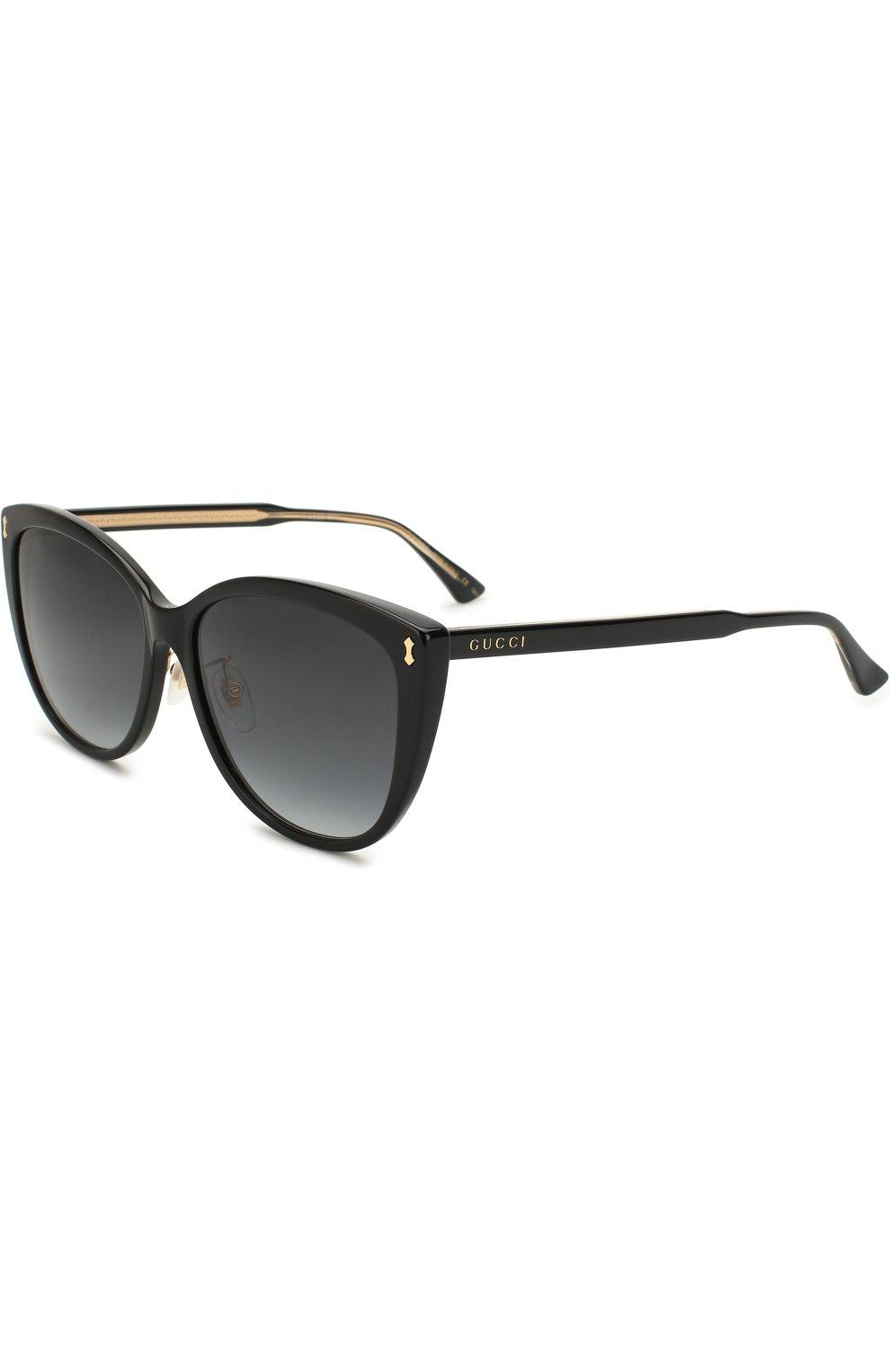 Женские солнцезащитные очки GUCCI черного цвета, арт. GG0193SK 001 | Фото 1