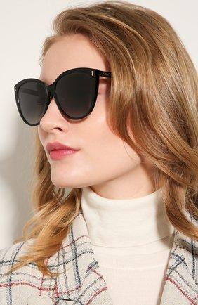 Женские солнцезащитные очки GUCCI черного цвета, арт. GG0193SK 001 | Фото 2